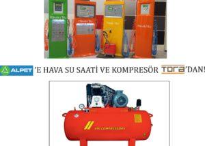 AlPet hava su saati ve kompresörleri tora'dan alıyor