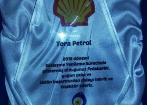 Shell'den Tora'ya ödül