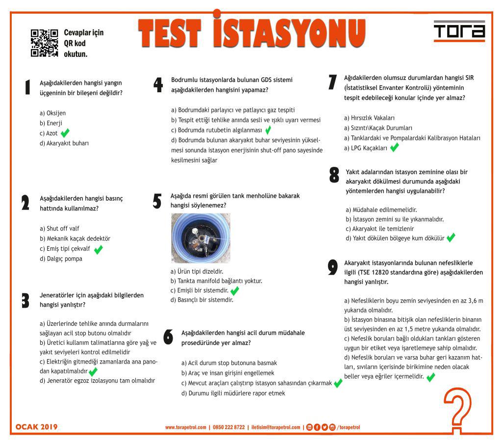 TEST İSTASYONU OCAK 2019
