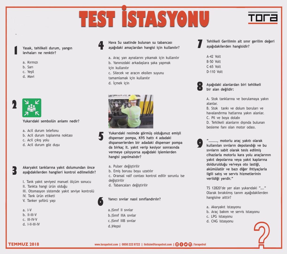 TEST İSTASYONU TEMMUZ