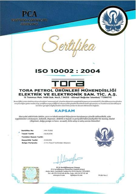 Tora Petrol OHSAS 10002 Sertifikası